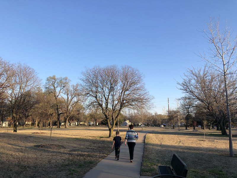 There's a decent number of trees in this park compared to some, probably provides decent shade in the summer.