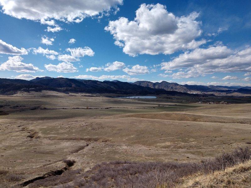 Aurora Rampart Reservoir in the distance.
