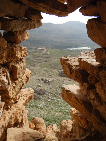 View from inside the monastery