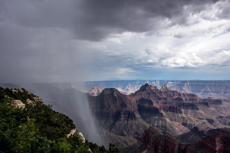 Afternoon rain, North Rim, Grand Canyon.
