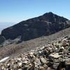 Looking east at Jeff Davis Peak (12,771 ft) and Utah beyond