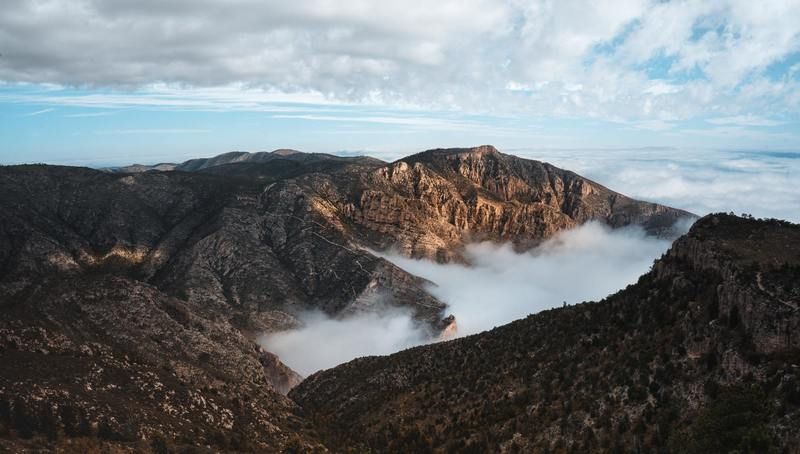 Sunrise cloud inversion, Guadalupe Mountains National Park.