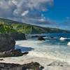 Ohe'o Gulch empties into the ocean