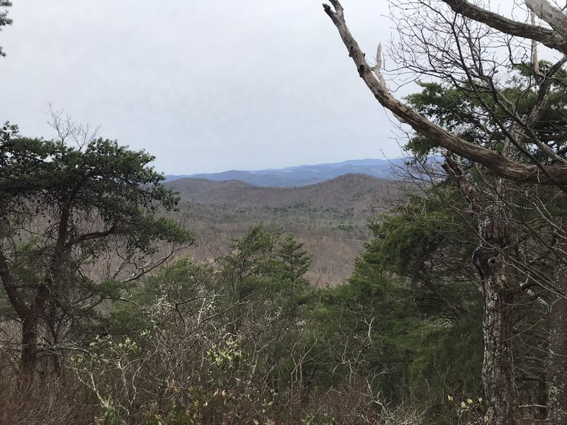 View southwest from the trail.