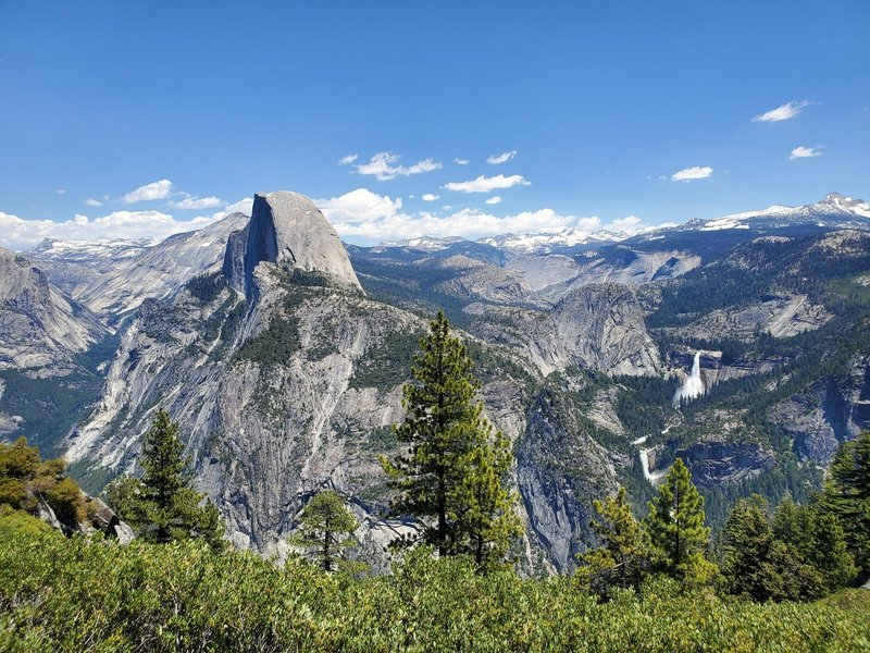 Half Dome, Nevada Falls, and Vernal Falls from Glacier Point
