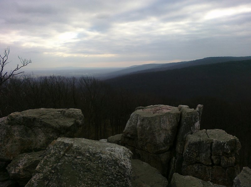 The view from Chimney Rock in Catoctin