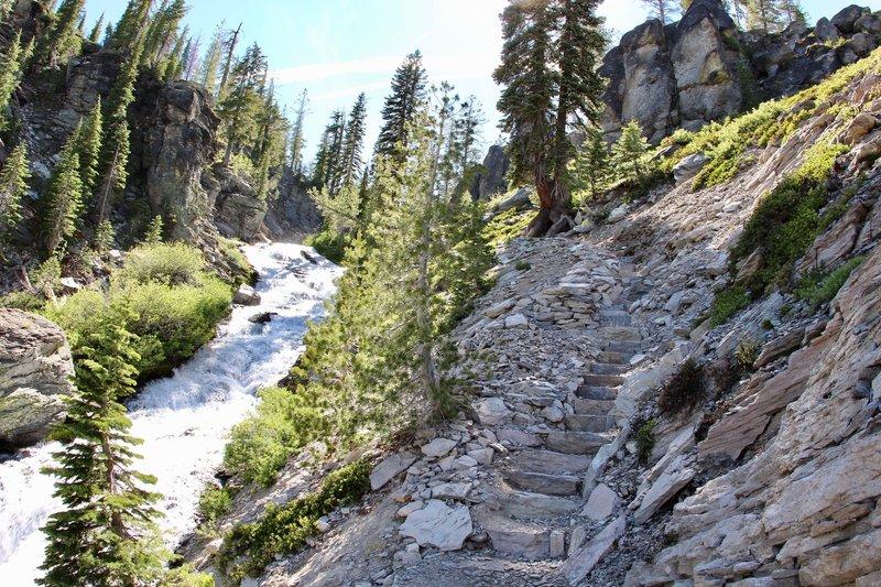 Cascade creek and the trail path