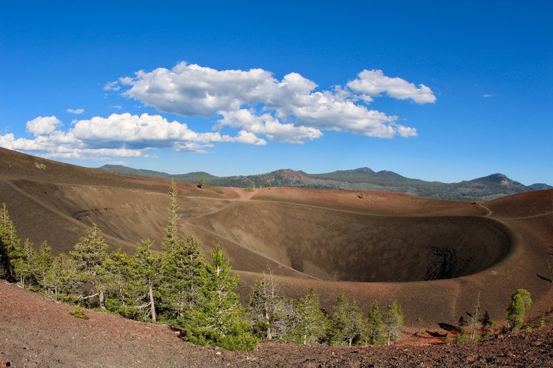 Inside the Cinder Cone crater
