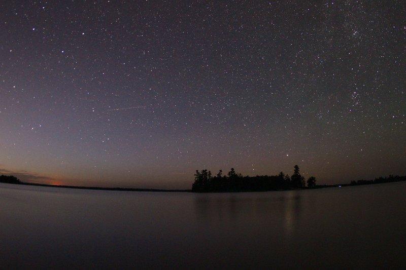 Kabetogama Lake at night