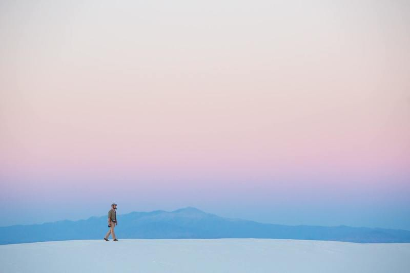 White Sands, United States - Minimal hike on the dunes