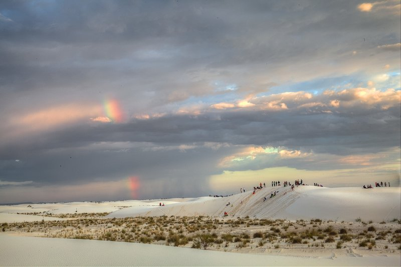 Rainbow over White Sands