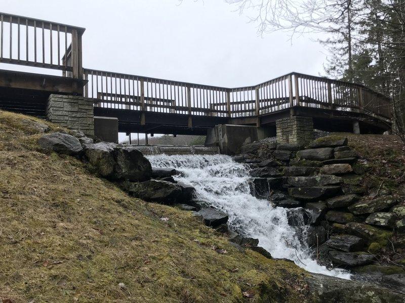 Small cascade below the boardwalk.