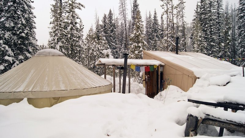 Used as a Ski-base in winter, this Yurt is great family quarters in summer.