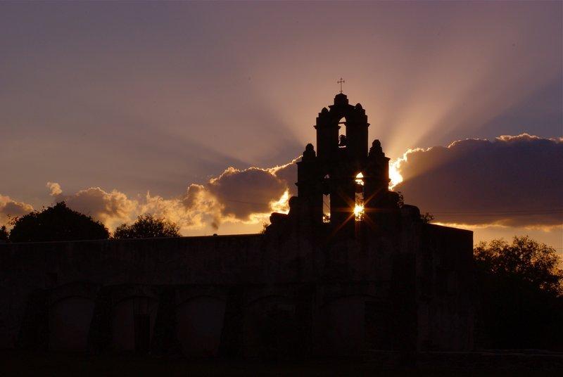 Mission San Juan at Sunset