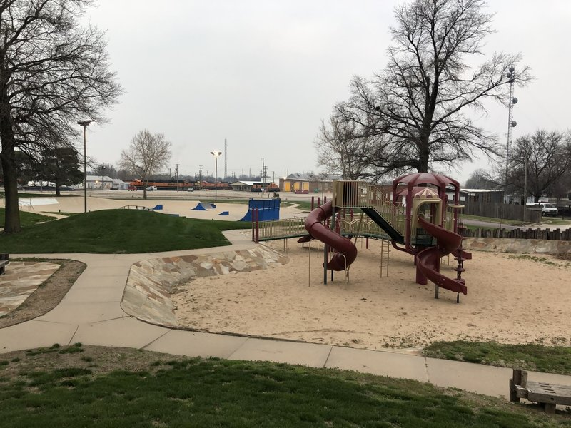 The playground in Okerberg Park