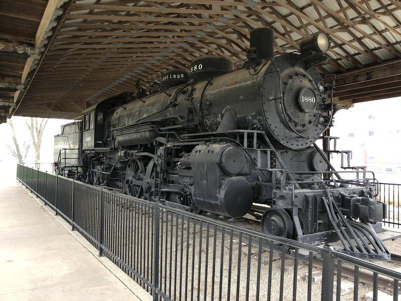 Steam locomotive Santa Fe 1880 in Military Park