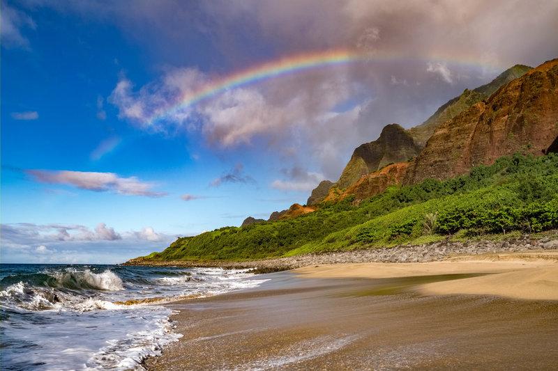 Kalalau Beach Rainbow