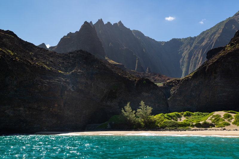 Honopu Valley Na Pali Coast Kauai Hawaii