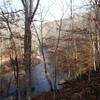 Nice trailside view of the Patapsco River from Pickall Trail