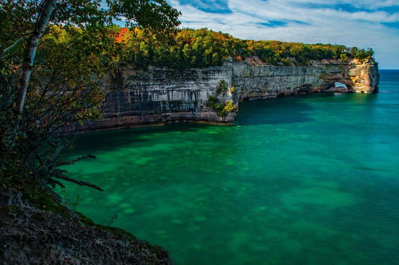 Pictured Rocks National Lakeshore, Munising - Hike into this location and cleared the tree line to to see this glorious view.