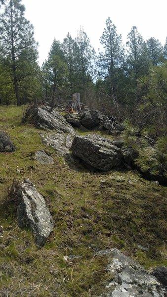 Fun rocky hill to climb around