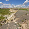 Bentonite cliff in the North Dakota Badlands. with permission from DeVane Webster