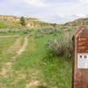 Jones Creek Trailhead signpost in Theodore Roosevelt National Park, North Dakota