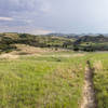 Hiking Talkington Trail, in Theodore Roosevelt National Park, North Dakota