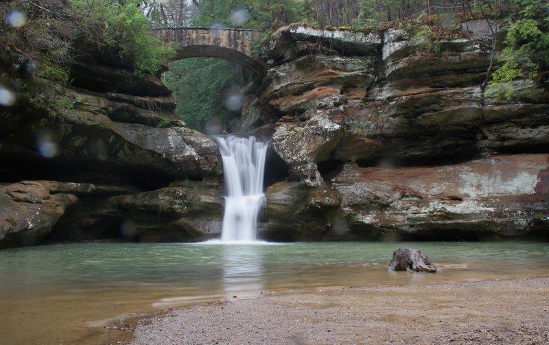 Spring Rain, Old Man's Cave, Upper Falls