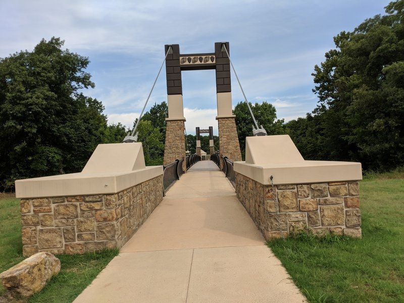 Inkana Bridge between Chickasaw National Recreation Area and Chickasaw Cultural Center