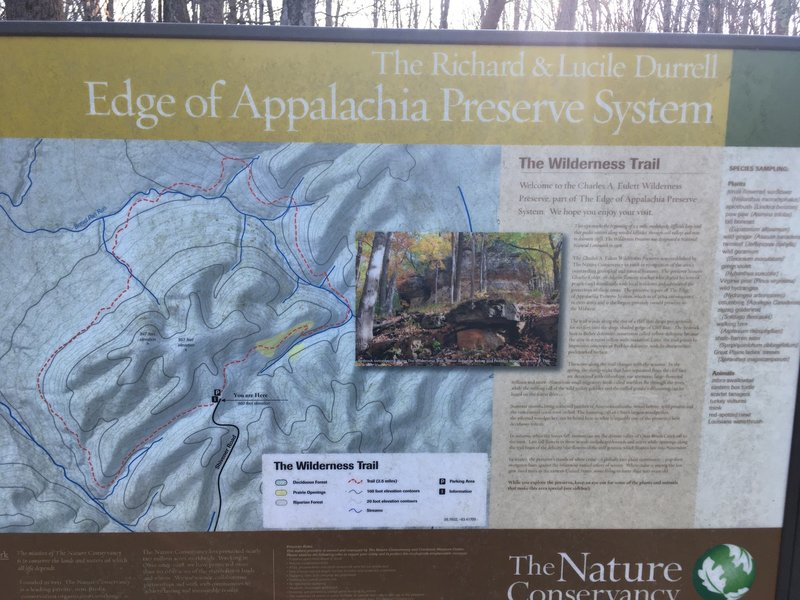 Info sign at Wilderness Trail