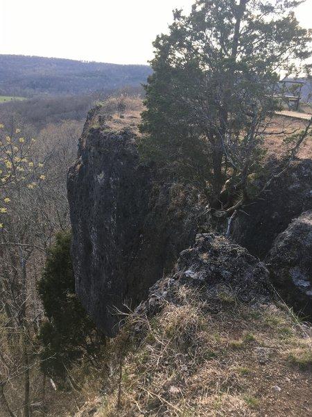 Cliffs at Buzzardroost Rock