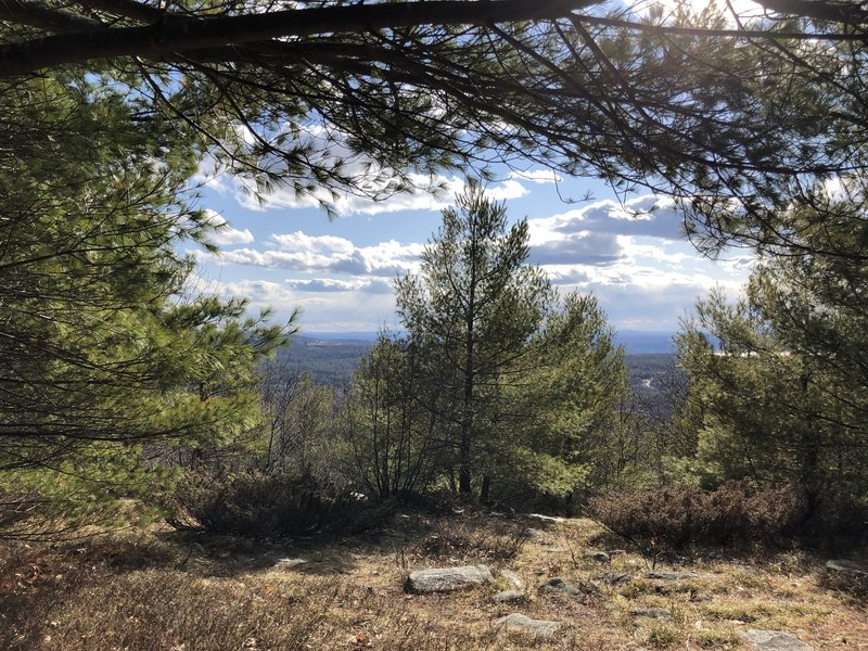 The view from a small picnic/rest area partially up Mount Rowe Trail.