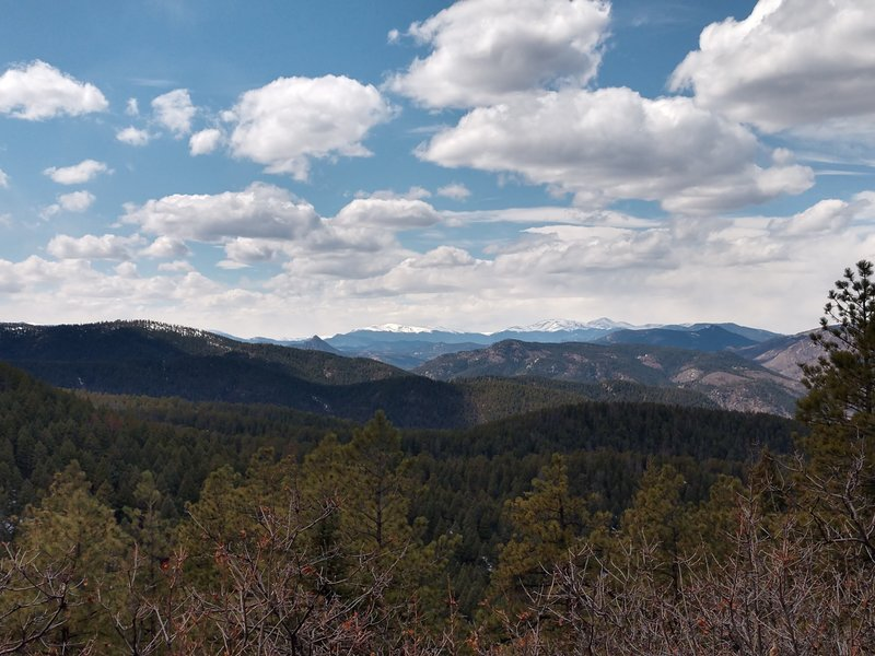 View west from fire road.