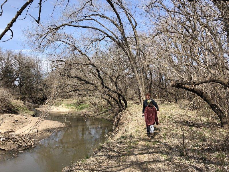Hiking along the Cowskin Creek