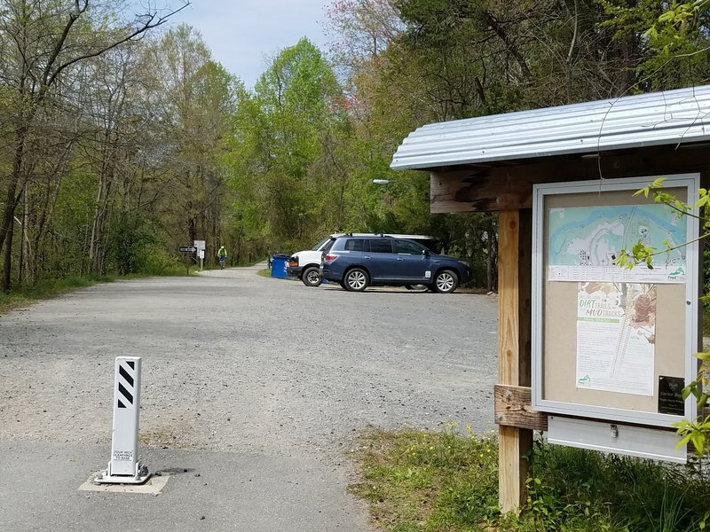 Starting point for the Fredericksburg Quarry Trail System