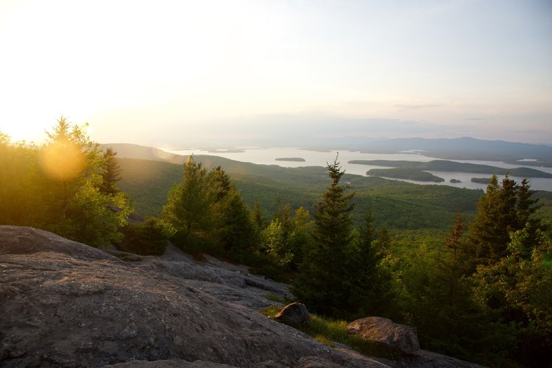 Looking north from Mount Major out towards Lake Winnipesaukee