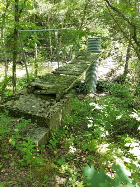 Part of the gauging station