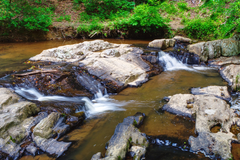 Quantico Cascades, a series of small waterfalls