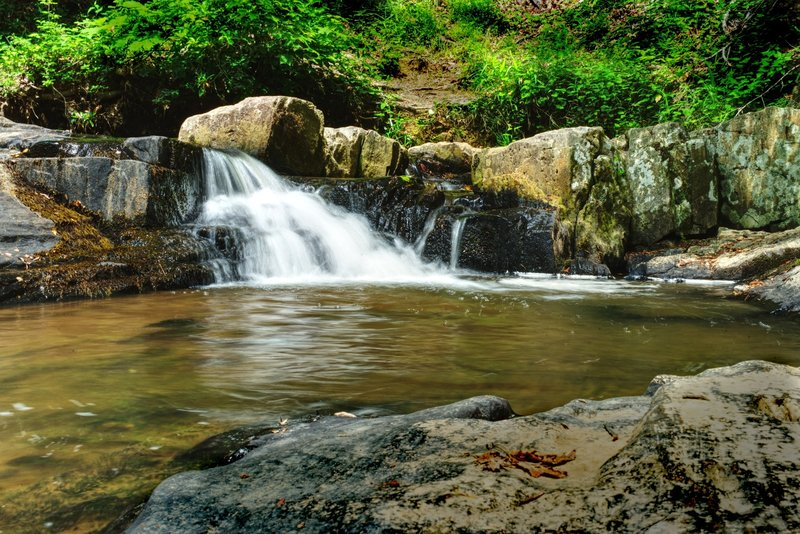 One of the small waterfalls along the cascade