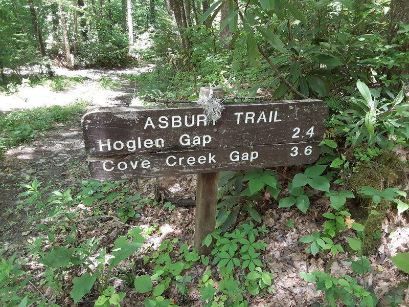 Trail marker at bottom