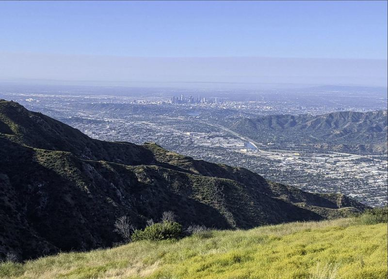 View of LA from the peak