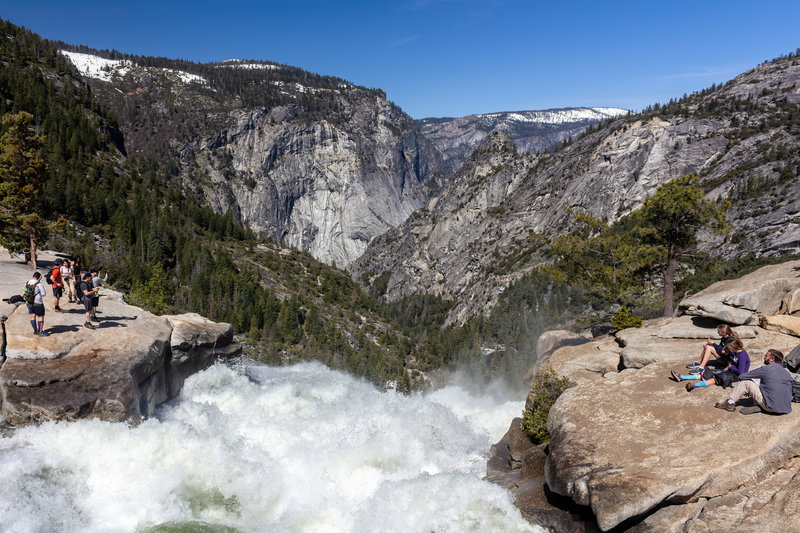 Standing on top of the bridge across the Merced River, you can only imagine these massive amounts of water plunging down Nevada Falls