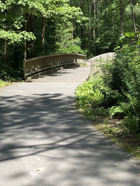 One of three bridges along the asphalt trail.