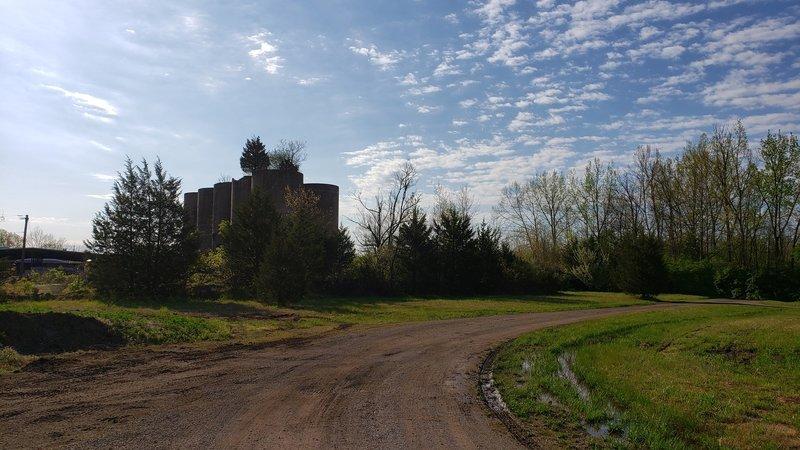 Old gravel silos at Mounts Park