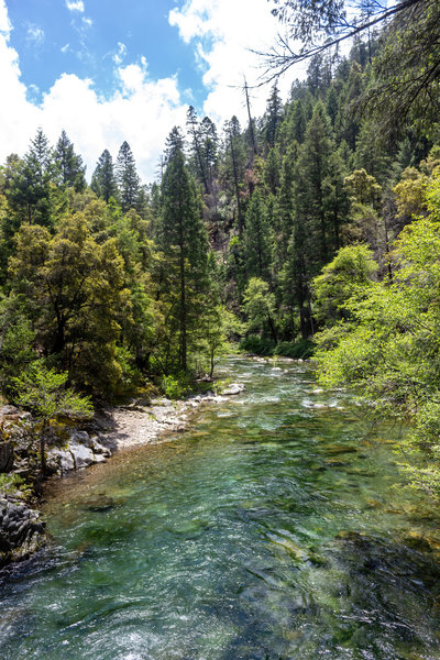 Downstream view from the bridge across the North Fork of Middle Fork American River.