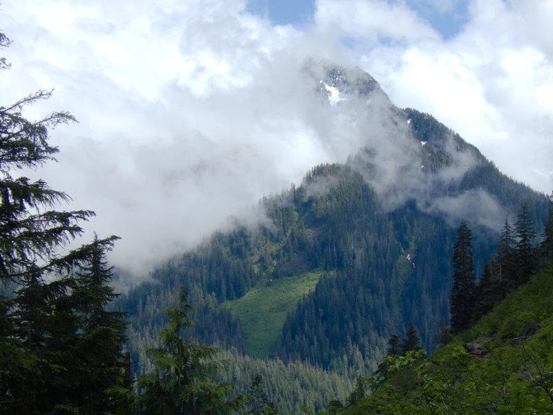 Treen peak looking back from Marten Lake Trail.