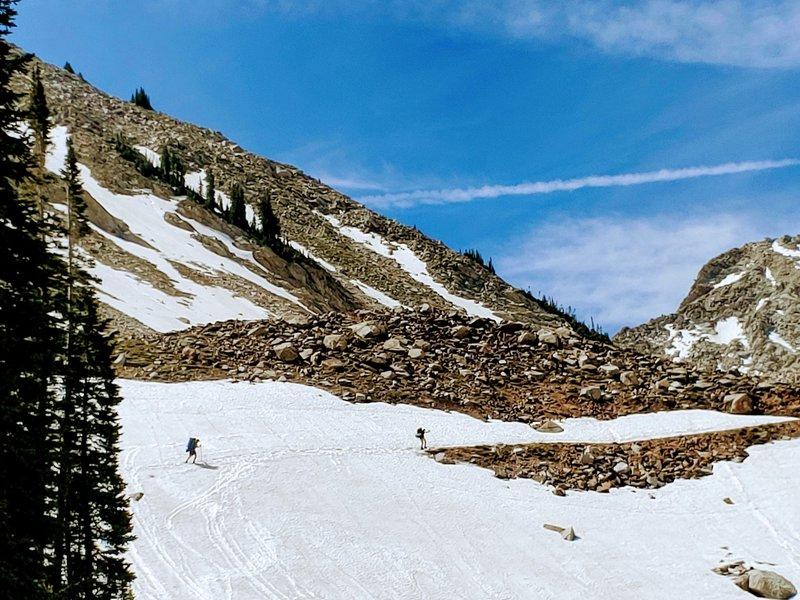June 2020 - snow still covering trail