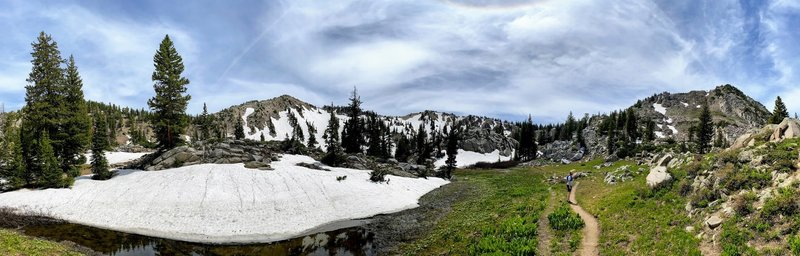 Headed up to Catherine's Pass