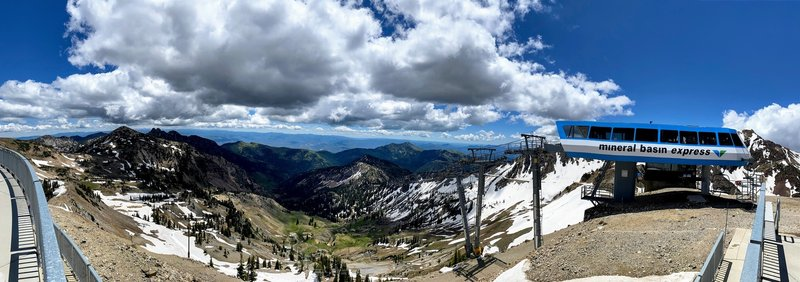 Top of Hidden Peak looking toward Mineral Basin.